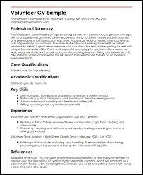 Volunteer Cv Vitae Resume Amazing Objective For Resume Resume