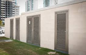 architectural screens louvre screening bank of louvres louvred doors