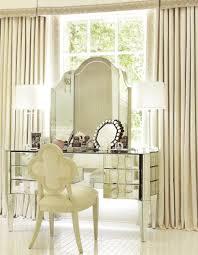 Metal Bedroom Vanity Transparent Glass Tabletop For Two Tiers Bedroom Makeup Vanity