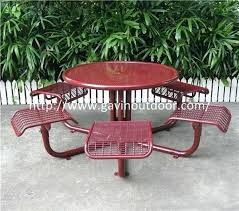 welded wire mesh outdoor cafe table chair set metal style chairs and patio sets