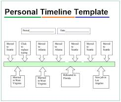 Personal Timeline Templates 4 Free Pdf Excel Word