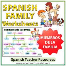 Family Chart In Spanish Spanish Family Tree Worksheets