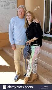 20.aprile.2012. MONACO Bjorn Borg di Svezia e moglie pongono al MC Rolex  Masters durante il giorno sei di ATP MONTE CARLO MASTERS DI APRILE 20, 2012  in Monte-carlo, Monaco Foto stock - Alamy