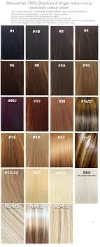 Hair Extension Color Chart Glamorhair Color Chart