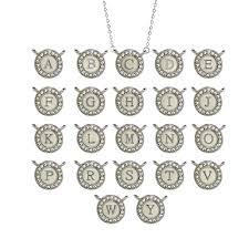 round initial necklace pendant 1 neoteric design inspired cz