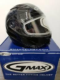 Gmax Gm64s Carbide W Dual Lens Modular Full Face Snowmobile Helmet Med Black