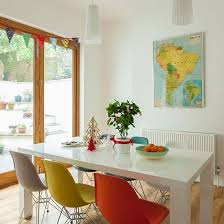 painted dining room furniture ideas. perfect dining dining room with multicoloured chairs intended painted room furniture ideas