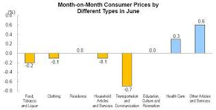 Monthly Cpi Chart Consumer Prices For June 2019