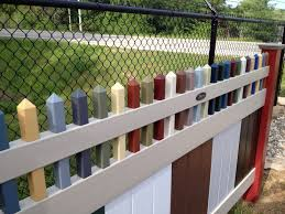 vinyl fence colors. Sample Multi-Color Vinyl Fence Colors