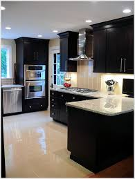 Cabinet And Lighting Love The Dark Cabinets And Light Counter Tops And Floor With