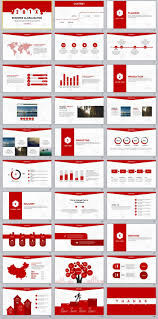 Red Ppt 30 Red Creative Business Report Powerpoint Template