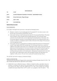 MEMORANDUM TO: STAFF COPY: VILLAGE PRESIDENT & BOARD OF TRUSTEES -  DEPARTMENT HEADS FROM: Richard Nahrstadt, Village Manager