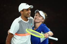 Tennis-Ram, Krejcikova storm to mixed doubles title at Australian Open