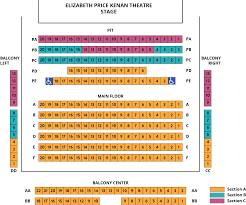 Virginia Theater Seating Chart Kenan Theatre Playmakers Repertory Company