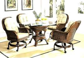 caster dining chairs dining chairs caster dining chairs rattan and wicker set kingdom room caster dining