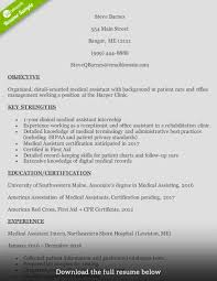 Resumes How To Write Medical Assistant Resume With Examples Medican
