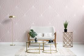 Pink Art Deco Wallpaper Mural ...