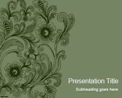 Swirls Templates Vintage Swirls Powerpoint Template Free Powerpoint Templates