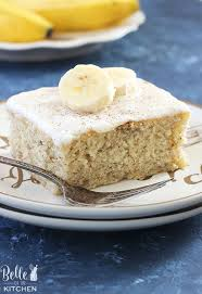 Banana Cake With Vanilla Frosting Belle Of The Kitchen