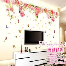 Small Picture Blomming Roses Large Love Wall Sticker Decoration For Tv Living