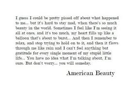 American Beauty End Quote Best Of AMERICAN BEAUTY QUOTES Image Quotes At Hippoquotes