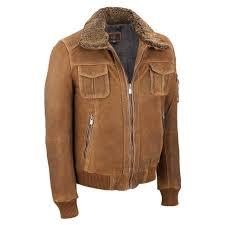 wilsons leather mens vintage er w shearling collar