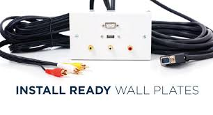 wall plates hdmi audio video usb cables from cabling specialists custom made wall plates lots of combinations of connections available made to order