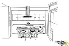 simple kitchen drawing. Beautiful Kitchen How To Draw A Kitchen  Step 8 And Simple Drawing H