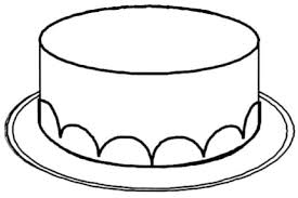 Small Picture Cake No Candles Clipart