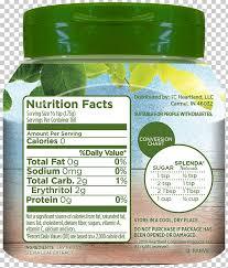 Sugar Substitute Stevia Splenda Product Table Png Clipart