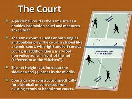 pickleball court size a world of pickleball