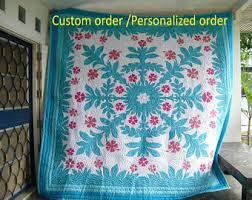 Hawaiian quilt | Etsy & On sale, Hawaiian Quilts, Hawaiian bedding, Home made quilts, Reverse  Applique quilt Adamdwight.com