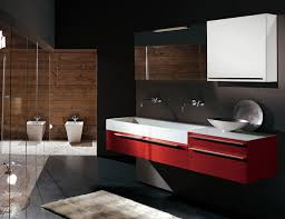contemporary bathroom furniture. Contemporary Bathroom Vanity Ideas To Inspire You : Tantalising Sexy Black And Red For Best Furniture