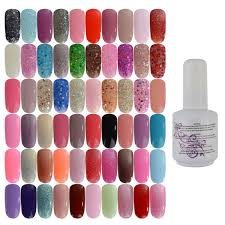 40 colors varnish bling nail art uv gel polish soak off gelpolish for tips 15ml