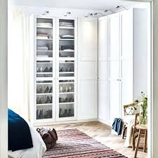 bedroom storage two white wardrobes with glass doors showcasing shoe organizers inside series ikea pax sliding
