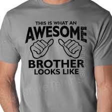 Worlds Okayest Brother Mens V Neck t-shirt. Super soft and light ...