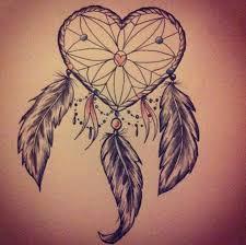 Dream Catcher Heart Tattoo