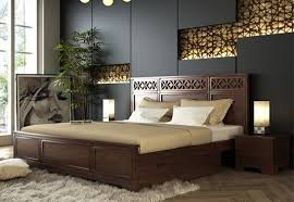bed design furniture. King Size Wooden Double Bed With Storage Drawer In Lucknow Design Furniture O