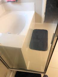 seeking advise on how to remove hard water stains from shower glass door regular bathroom cleaner and clr didn t work