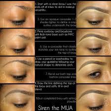 eyebrow shading drawing. how to do eyebrow makeup with concealer vidalondon shading drawing