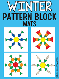 Once you know how to fold the paper to make a snowflake, you can. Snowflake Pattern Block Mats Prekinders
