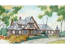 tudor house plans. Two-Story Luxury Tudor Style House Plans