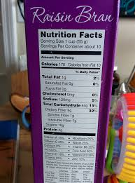 nutrition facts for trader joes raisin bran