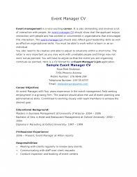 Eventr Resume Resumes Gallery Of Executive Summary Professional