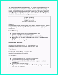Nursing Assistant Job Description For Resume