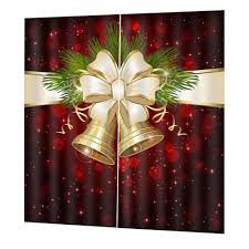 <b>Christmas Decoration Digital Printing</b> Pattern Curtains Thickened ...