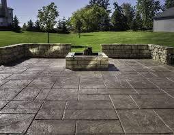 backyard concrete designs. Exellent Designs Ashlar Slate Stamped Concrete With Backyard Concrete Designs T