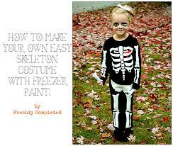 easy skeleton costume