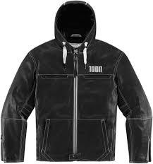 icon 1000 hood jackets leather black reliable retion icon vests exclusive range