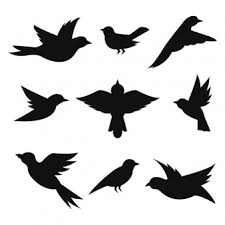 cute flying bird silhouette. Birds Silhouettes Collection Intended Cute Flying Bird Silhouette